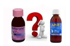 Faut il donner du Doliprane ou de l'Advil aux enfants et aux bébés?