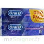 oral b 3d white luxe lot de 2