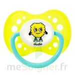 Dodie sucette anatomique silicone 18M+ fluo