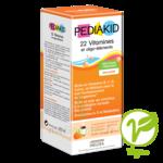 Pédiakid 22 Vitamines et Oligo-Eléments Sirop abricot orange 125ml