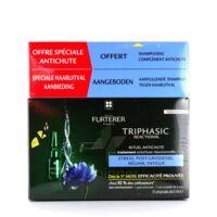 René Furterer Triphasic Reactional Traitement antichute réactionnelle - 12 ampoules x 5ml + Shampooing Stimulant 100 ml