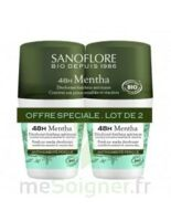 Sanoflore Déodorant 48h Mentha 2Roll-on/50ml