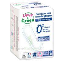 Love & Green Serviettes écologiques Maxi-nuit Paquet/12