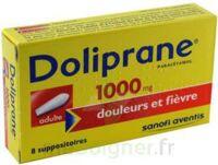 DOLIPRANE 1000 mg Suppositoires adulte 2Plq/4 (8)