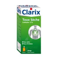 CLARIX TOUX SECHE CODETHYLINE 0,1 % SANS SUCRE, solution buvable