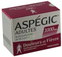 ASPEGIC ADULTES 1000 mg, poudre pour solution buvable en sachet-dose 15