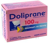 DOLIPRANE 100 mg Poudre pour solution buvable en sachet-dose B/12