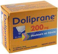 DOLIPRANE 200 mg Poudre pour solution buvable en sachet-dose B/12