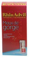Rhinadvil Maux De Gorge Tixocortol/chlorhexidine, Suspension Pour Pulvérisation Buccale
