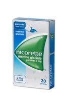 NICORETTE 2 mg Gom à mâcher médic sans sucre menthe glaciale Plq/30gom