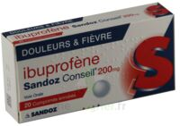 IBUPROFENE SANDOZ CONSEIL 200 mg, comprimé enrobé