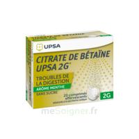 Citrate de Bétaïne UPSA 2 g Comprimés effervescents sans sucre menthe édulcoré à la saccharine sodique T/20