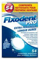 Fixodent Pro Comprimés Nettoyant Fraîcheur Longue Durée pour Prothèse Dentaire B/54