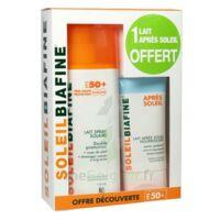 COFFRET SOLEILBIAFINE LAIT SPRAY SOLAIRE SPF50+ 200ML + APRES SOLEIL 50ML OFFERT