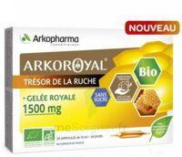 Arkoroyal Gelée royale bio sans sucre 1500mg Solution buvable 20 Ampoules/10ml