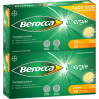 BEROCCA ENERGIE Comprimés effervescents orange B/60