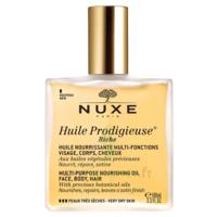 Huile prodigieuse® riche - huile nourrissante multi-fonctions visage, corps, cheveux100ml