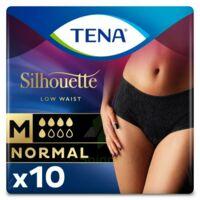 Tena Lady Silhouette Slip Absorbant Noir Normal Médium Paquet/10