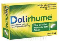DOLIRHUME PARACETAMOL ET PSEUDOEPHEDRINE 500 mg/30 mg, comprimé