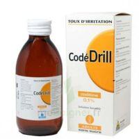 CODEDRILL SANS SUCRE 0,1 POUR CENT, solution buvable édulcorée à la saccharine