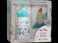 "Coffret biberon 270 ml + Bavoir ""collection capsule Moulin Roty"""