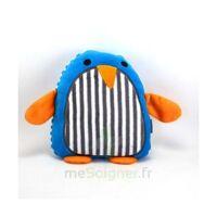 MARQUE VERTE Bouillotte graines pingouin bleu