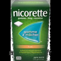 Nicorette 2 mg Gomme à mâcher médicamenteuse sans sucre fruits Plq/30