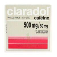 CLARADOL CAFEINE 500 mg/50 mg, comprimé effervescent