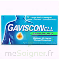 GAVISCONELL Coprimés à croquer sans sucre menthe édulcoré à l'aspartam et à l'acésulfame potas Plq/24