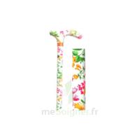 AQUAROMAT Canne poignée en T aluminium réglable fleuri blanche