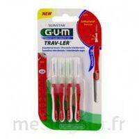 GUM TRAV - LER, 0,8 mm, manche rouge , blister 4