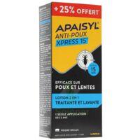 Apaisyl anti-poux Xpress 15' 250ml _ 25% offert