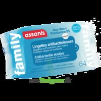 Assanis Family Lingette antibactérien mains Pochette/64