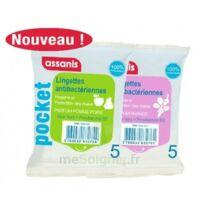 Assanis Pocket Lingette antibactérienne mains Pomme Poire Sachet/5