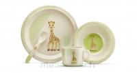 Sophie la girafe So'pure Coffret repas naturel  (à base de fibre de bambou)