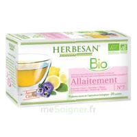Herbesan Infusion Bio Tisane allaitement 20 Sachets