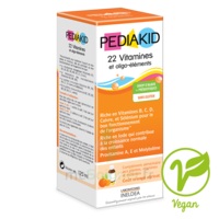 Pédiakid 22 Vitamines et Oligo-Eléments Sirop abricot orange 125ml
