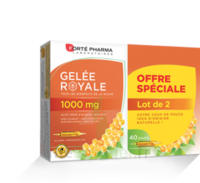 Forte Pharma Gelée royale 1000 mg Solution buvable 2*B/20 Ampoules/10ml