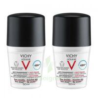Vichy Homme Déodorant anti-transpirant anti trace 48H 2*Billes/50ml