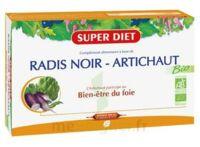 Superdiet Radis noir Artichaut Bio Solution buvable 20 Ampoules/15ml