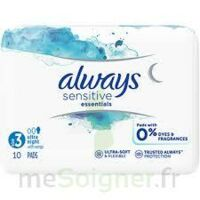 Always Serviettes Sensitives Essentials - Nuit