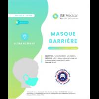 Masque barrière non médical Enfant (4/10 ans) Blancs B/6