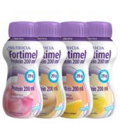 Fortimel Protein Nutriment multi saveurs caramel/vanille/fraise/mangue 4 Bouteilles/200ml