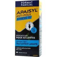 Apaisyl Anti-poux Xpress 15' Lotion antipoux et lente 100ml+peigne