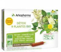 Arkofluide Bio Ultraextract Solution buvable détox 9 Plantes 20 Ampoules/10ml