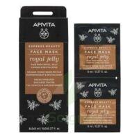 Apivita - EXPRESS BEAUTY Masque Visage Raffermissant & Revitalisant - Gelée Royale  2x8ml