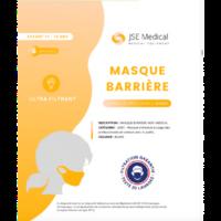 Masque barrière non médical Enfant (11/16 ans) Blancs B/6