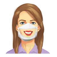 Masque transparent UNS1 / 50 lavages