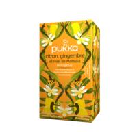 PUKKA BIO Citron, Gingembre et Miel de Manuka Tisane immunité Citron Gingembre Miel de Manuka 20 Sachets