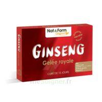 Nat&Form Naturellement Ginseng Gelée Royale Solution buvable Bio 2B/30 ampoules/10ml